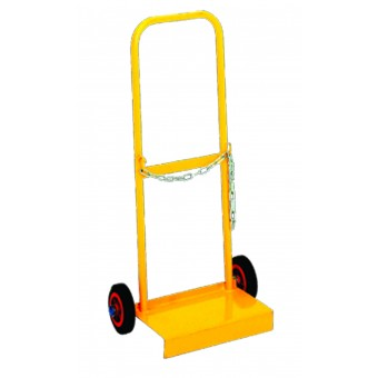'D' Size Cylinder Trolley with Rubber Wheel